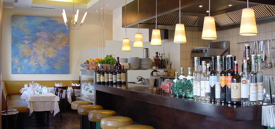 Restaurant küche gerichte olivenöl kontakt